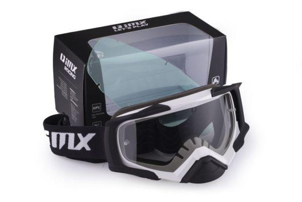 gogle-imx-dust-white-black-matt-szyba-dark-smoke-clear-monsterbike.pl