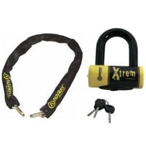 zestaw łańcuch typu lasso AUVRAY z kłódką XTREM MINI - długość 120cm, średnica 10mm