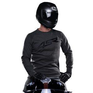 bluza-motocyklowa-kevlarowa-logo-4sr-ciemnoszara-monsterbike-pl