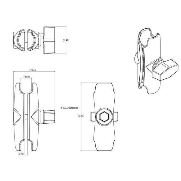 ramię-ram-mounts-o-długośći-3-69-ram-b-201-u-czarne-monsterbike-pl-4