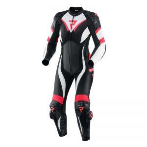 kombinezon-motocyklowy-skórzany-rebelhorn-rebel-czarny-biały-fluo-czerwony-monsterbike-pl