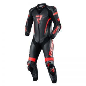 kombinezon-motocyklowy-skórzany-rebelhorn-rebel-czarny-fluo-czerwony-monsterbike-pl