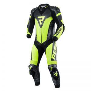 kombinezon-motocyklowy-skórzany-rebelhorn-rebel-czarny-fluo-żółty-monsterbike-pl