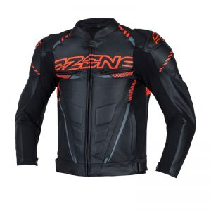 kurtka-motocyklowa-ozone-rs600-short-Black-Flo-Red-sklep-motocyklowy-warszawa-MonsterBike.pl