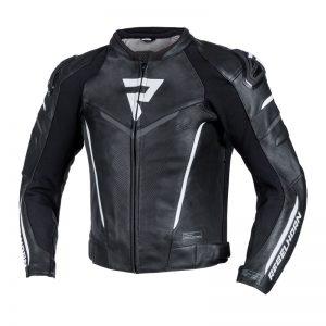 kurtka-motocyklowa-skórzana-rebelhorn-fighter-czarna-biała-monsterbike-pl
