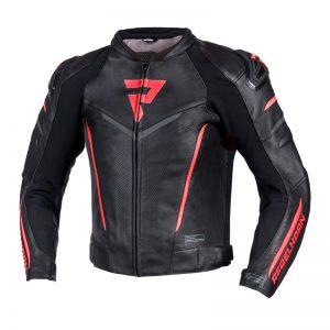 kurtka-motocyklowa-skórzana-rebelhorn-fighter-czarna-fluo-czerwona-monsterbike-pl
