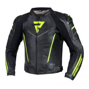 kurtka-motocyklowa-skórzana-rebelhorn-fighter-czarna-fluo-żółta-monsterbike-pl