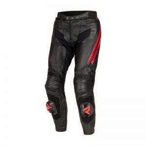 spodnie-motocyklowe-skórzane-rebelhorn-fighter-czarne-fluo-czerwone-monsterbike-pl