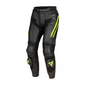 spodnie-motocyklowe-skorzane-rebelhorn-fighter-czarne-fluo-żółte-monsterbike-pl