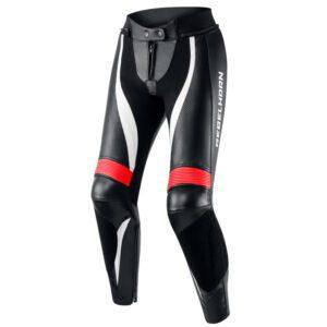 spodnie-motocyklowe-rebelhorn-rebel-lady-czarne-fluo-czerwone-białe-monsterbike-pl