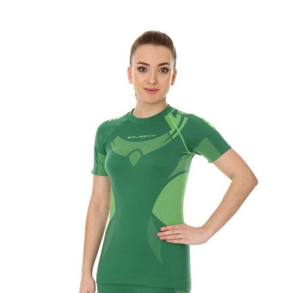 koszulka-termoaktywna-brubeck-dry-damska-z-krótkim-rękawem-zielona-limonka-odzież-motocyklowa-warszawa-monsterbike-pl