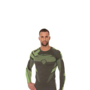 koszulka-termoaktywna-brubeck-dry-męska-z-długim-rękawem-grafit-limonka-amarantowa-odzież-motocyklowa-warszawa-monsterbike-pl