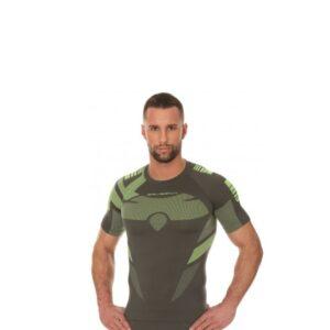 koszulka-termoaktywna-brubeck-dry-męska-z-krótkim-rękawem-garfitowa-limonka-odzież-motocyklowa-warszawa-monsterbike-pl