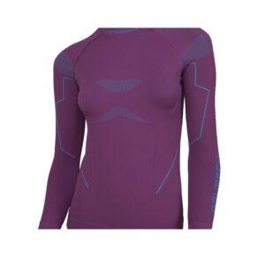 koszulka-termoaktywna-brubeck-thermo-damska-z-długim-rękawem-śliwkowa-odzież-motocyklowa-warszawa-monsterbike-pl
