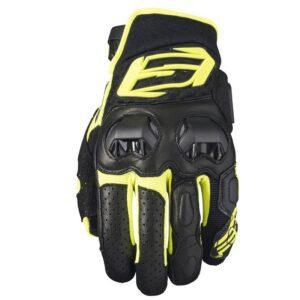 rękawice-motocyklowe-five-sf3-czarne-fluo-żółte-odzież-motocyklowa-warszawa-monsterbike-pl