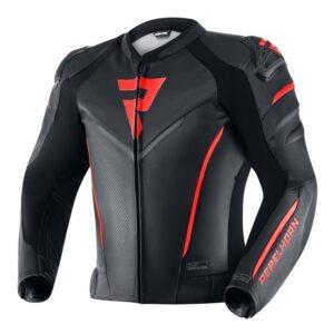 kurtka-motocyklowa-skórzana-rebelhorn-fighter-czarna-fluo-czerwona-odzież-motocyklowa-warszawa-monsterbike-pl