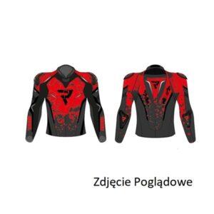 kurtka-motocyklowa-skórzana-rebelhorn-rebel-cosmic-czarna-fluo-czerwona-odzież-motocyklowa-warszawa-monsterbike-pl