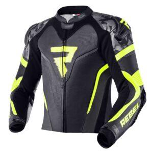 kurtka-motocyklowa-skórzana-rebelhorn-rebel-czarna-fluo-żółta-odzież-motocyklowa-warszawa-monsterbike-pl