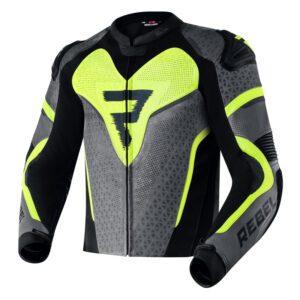 kurtka-motocyklowa-skórzana-rebelhorn-rebel-stay-creative-czarna-szara-fluo-żółta-odzież-motocyklowa-warszawa-monsterbike-pl