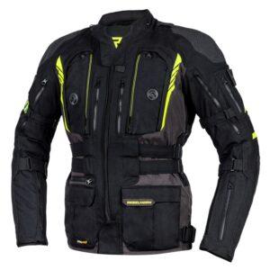 kurtka-motocyklowa-tekstylna-rebelhorn-patrol-czarna-fluo-żółta-odzież-motocyklowa-warszawa-monsterbike-pl