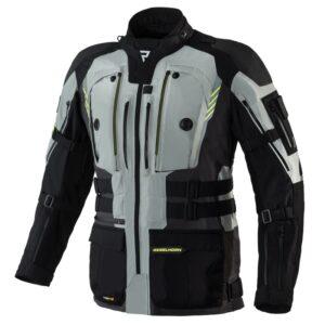 kurtka-motocyklowa-tekstylna-rebelhorn-patrol-szara-czarna-fluo-żółta-odzież-motocyklowa-warszawa-monsterbike-pl