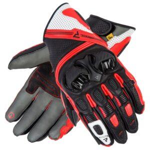 rękawice-motocyklowe-rebelhorn-st-short-czarne-szare-fluo-czerwone-odzież-motocyklowa-warszawa-monsterbike-pl