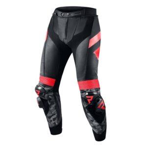 spodnie-motocyklowe-rebelhorn-rebel-czarne-fluo-czerwone-odzież-motocyklowa-warszawa-monsterbike-pl