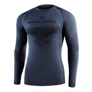 koszulka-termoaktywna-z-dlugim-rekawem-rebelhorn-freeze-szara-czarna-odzież-motocyklowa-warszawa-monsterbike-pl