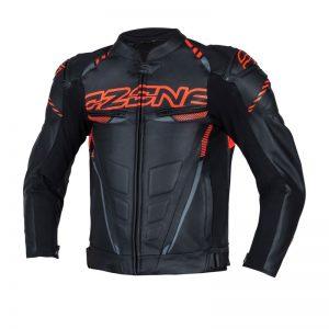 kurtka-motocyklowa-ozone-rs600-czarna-fluo-czerwona-odzież-motocyklowa-warszawa-monsterbike-pl