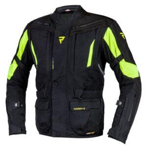 kurtka-motocyklowa-tekstylna-rebelhorn-hardy-ii-czarna-fluo-zółta-odzież-motocyklowa-warszawa-monsterbike-pl