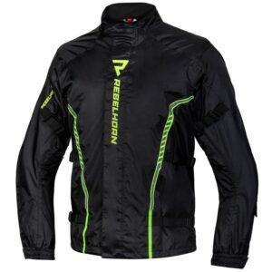 kurtka-przeciwdeszczowa-rebelhorn-patrol-czarna-fluo-żółta-odzież-motocyklowa-warszawa-monsterbike-pl