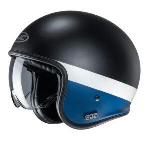 kask-motocyklowy-otwarty-hjc-v30-perot-black-white-blue-kaski-motocyklowe-warszawa-monsterbike-pl