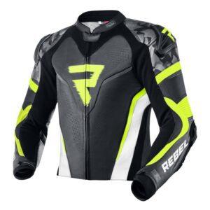 kurtka-motocyklowa-skórzana-rebelhorn-rebel-czarna-biała-fluo-zółta-odzież-motocyklowa-warszawa-monsterbike-pl