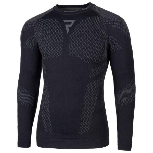 koszulka-termoaktywna-z-długim-rękawem-rebelhorn-active-ii-czarna-szara-odzież-termoaktywna-warszawa-monsterbike-pl
