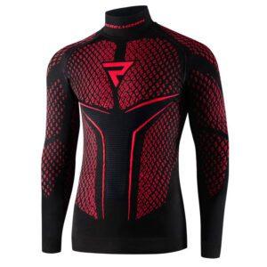 koszulka-termoaktywna-z-długim-rękawem-rebelhorn-therm-ii-czarna-czerwona-odzież-termoaktywna-warszawa-monsterbike-pl