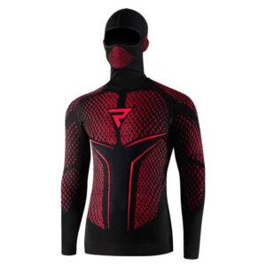 koszulka-termoaktywna-z-kominiarką-i-długim-rękawem-rebelhorn-therm-ii-czarna-czerwona-odzież-termoaktywna-warszawa-monsterbike-pl