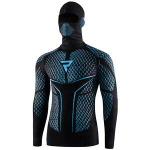 koszulka-termoaktywna-z-kominiarka-i-długim-rękawem-rebelhorn-therm-ii-czarna-niebieska-odzież-termoaktywna-warszawa-monsterbike-pl