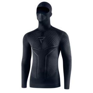 koszulka-termoaktywna-z-kominiarką-i-długim-rękawem-rebelhorn-therm-ii-czarna-szara-odzież-termoaktywna-warszawa-monsterbike-pl
