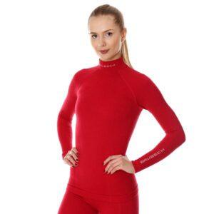 bluza-termoaktywna-damska-brubeck-extreme-wool-malinowa-odzież-motocyklowa-warszawa-monsterbike-pl